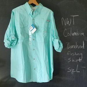 NWT Columbia Bonehead Long Sleeve Shirt Sz L